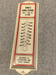 Vintage Finekandrsquos Sohio Thermometer Standard Oil Ohio Lubrication Brake Service
