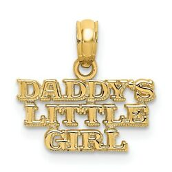 14k Yellow Gold Daddys Little Girl Pendant Charm Necklace Fine Jewelry Women