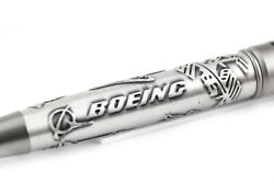 Bettoni Boeing Silver And Black Lacquer Ballpoint Pen