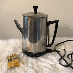 General Electric Coffee Percolator Vintage Coffee Maker Tested Working 10 Cup