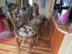 Aico By Michael Amini Sienna Spice Bar Stools Walnut X 3 Local Pick Up Only