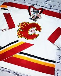 Vintage Nhl Calgary Flames Authentic Centre Ice Collection Ccm Bnwt Jersey Rare