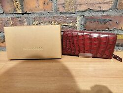 Wallet Style Croco Long Wallet Red