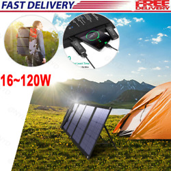 16120w Portable Solar Panel Charger Foldable For Power Station Generator Laptop
