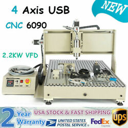 Usb 4axis 6090 Cnc 2.2kw Router Engraver 3d Milling/engraving Machine+handwheel