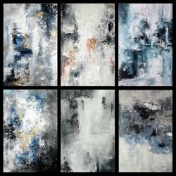 Abstract Wall Art Modern Oil Painting Living Room Decoration Home Decor Unframed