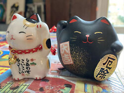 Asian Cat Figurines Small