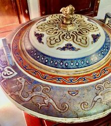 Rare And Large Antique Japanese Chinese Porcelain Lidded Tureen