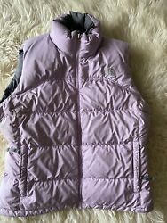 The Puffer Vest Jacket Womens Large Pink 550 Down Insulated