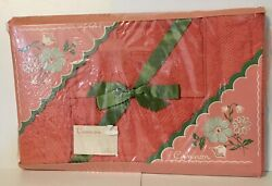 Vintage Cannon Bath Towel Set Of 3 Flamingo Pink New In Package