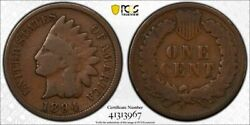 1894/1894 Pcgs G06 Rpd Fs-301 S-1 Indian Head Penny 1c Us Coin Item 27581b