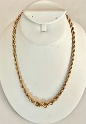 Wow-------solid 14k Yellow Gold Italian Rope Necklace, See Gold Jewelry And Coins