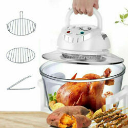 12l Electric Air Fryer Convection Oven Glass Roaster Cooker Oil-less Cooking Usa