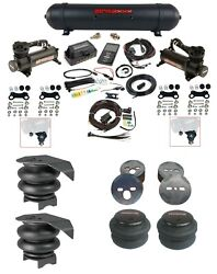Complete Air Ride Suspension Kit W/480 Black And 27685 Air Lift 3p For 88-98 C15