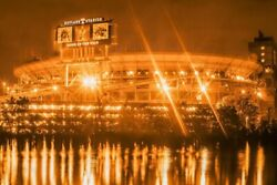 Neyland Stadium River Knoxville City Photography Metal Print Wall Art Picture Ho
