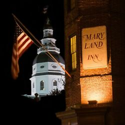 Maryland Inn Annapolis Colonial Style State Capitol Skyline Canvas Photography