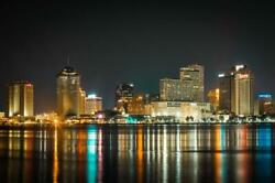 New Orleans Skyline Photography Metal Print Wall Art Picture Home Decor Poster L