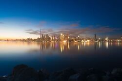 Toronto Downtown Skyline Sunset Canvas Photography Print Wall Art Picture