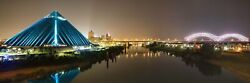 Memphis Skyline Panorama Tennessee City Photography Metal Print Wall Art Picture