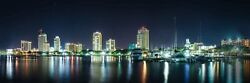 St Petersburg Florida Skyline Canvas Photography Print Wall Art Picture