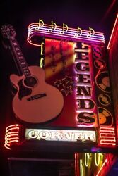 Honky Tonk Sign Legends Nashville City Photography Metal Print Wall Art Picture