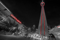 Cn Tower Downtown Toronto Canada Canvas Photography Metal Print Wall Art Picture