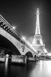 The Eiffel Tower On The Seine Downtown Paris France Canvas Photography Print