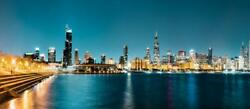 Chicago Skyline Color Photography Metal Print Wall Art Picture Home Decor Poster
