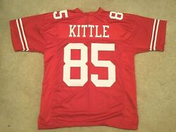 Unsigned Custom Sewn Stitched George Kittle Red Jersey - M L Xl 2xl