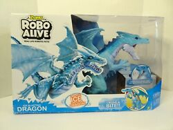 Zuru Robo Alive Ice Blasting Dragon New Robotic Pet Blue