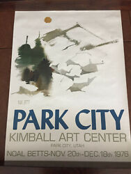 Vintage Posters Original 1976 By Noal Betts Park City Kimball's Center