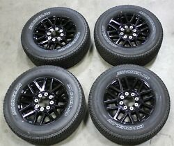 Oem Factory 17-22 F250 Super Duty Sport Black 20 Wheels And Tires 20 Inch Rims