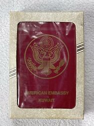 Vtg American Embassy Kuwait Most Wanted Playing Cards New In Box