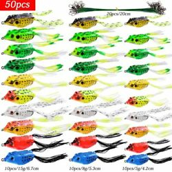 5g-15g Frog Soft Fishing Lures Double Hooks Top Water Ray Frog Artificial