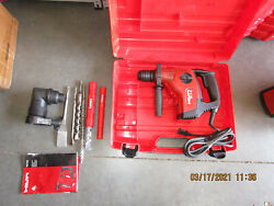 Hilti Te7-c And Te-ac1 Angle Chuck Corded Rotary Chipping Hammer Drill Kit 927