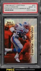 1996 Select Certified Premium Stock Mirror Red Curtis Martin /20 77 Psa 9 Mint