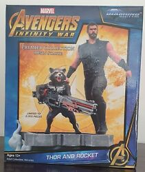 Statuette Avengers Infinity War - Thor And Rocket - Diamond Select Toys Resine