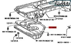 Genuine Front Sump Oil Pan For Toyota Aristo Jzs147 2jz