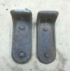 1928 1931 Model A Ford Aa Truck Front Lower Flat Bed Mounts Original Pair Frame
