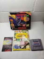 Super Gameboy Snes Complete In Box Rare Bib Box Variant With Guide