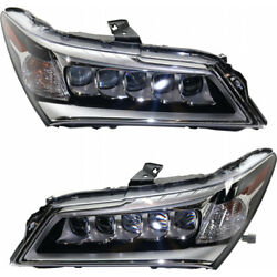 For Acura Mdx Headlight 2014 2015 2016 Pair Lh And Rh Side Led Ac2502125