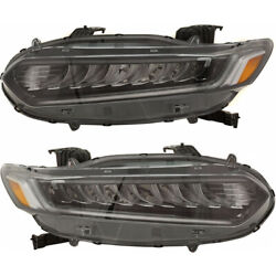 For Honda Accord Head Light 2018-2020 Pair Rh And Lh Side Touring Led Ho2502188