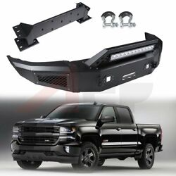 Steel Front Bumper Assembly For 15-17 Chevy Silverado 2500 + Bright Light