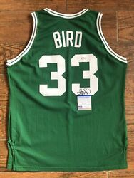 Larry Bird 80s Sand Knit Team Issue Exclusively Designed Celtics Jersey Signed
