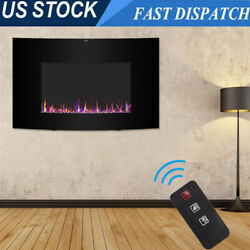 1400w Wall Mount Free Standing 35 Electric Fireplace Heater With Remote Control