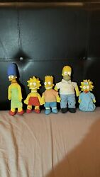 The Simpson's Burger King Dolls 1990 - Full Family. Great Condition.