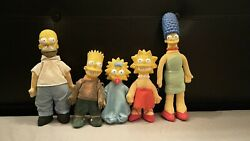 The Simpson's Burger King Dolls 1990 - Full Family Decent Condition - See Desc
