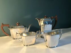 Solid Silver Art Deco Tea And Coffee Service By Mappin And Webb