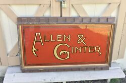 C1890 Allen And Ginter Tobacco Reverse Painted Glass Sign Baseball Card Related