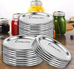 150-count, Regular Mouth Mason Jar Lids With Silicone Seals Rings